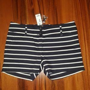 """4"""" inseam navy blue/white shorts"""